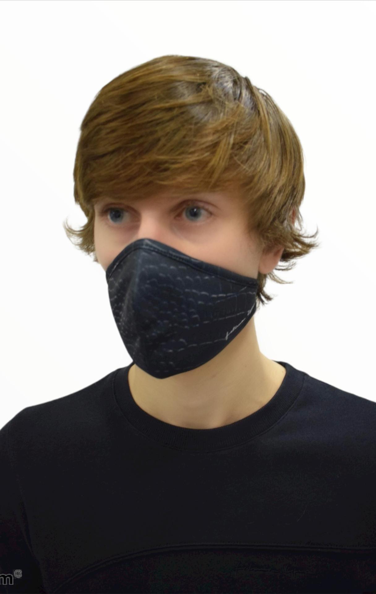 Mask CROCO BLKWHTM 0